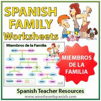 Spanish Family Tree Worksheet Lovely Learn Spanish Grammar and Vocabulary Woodward Spanish