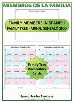 Spanish Family Tree Worksheet Lovely Spanish Family Tree Worksheets by Woodward Education