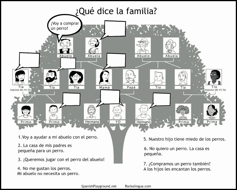 Spanish Family Tree Worksheet New Family Members In Spanish Family Tree Activities
