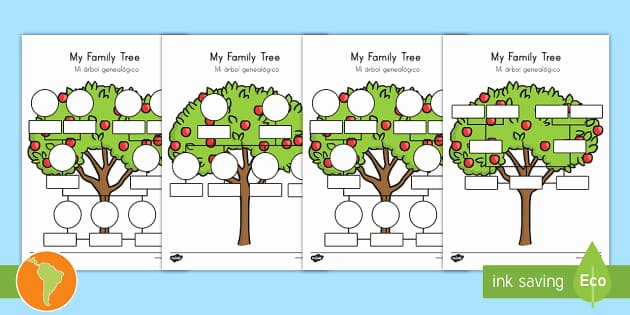 Spanish Family Tree Worksheet New My Family Tree Worksheet Worksheets English Spanish My