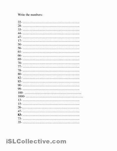 Spanish Numbers Worksheet 1 100 Beautiful 13 Best Of Numbers 1 100 Worksheet Kindergarten