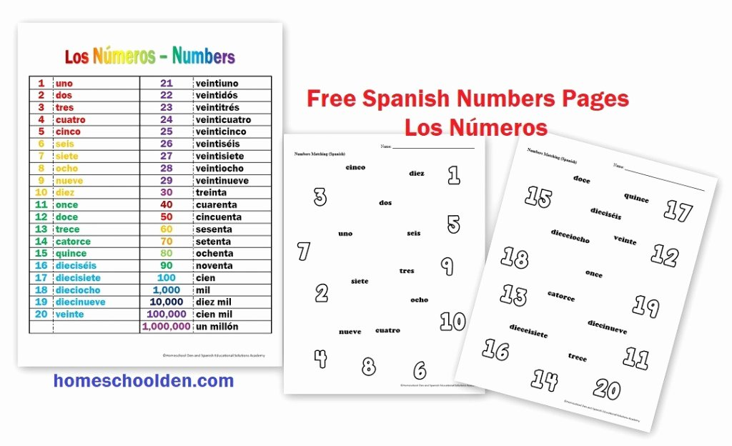 Spanish Numbers Worksheet 1 100 Inspirational Los Números – Free Spanish Numbers Worksheets Homeschool Den