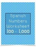 Spanish Numbers Worksheet 1 100 New Spanish Numbers Worksheet