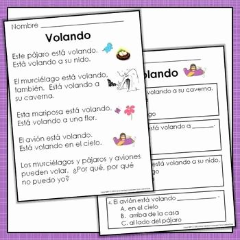 Spanish Reading Comprehension Worksheet Beautiful Spanish Reading Prehension Passages with Text Based