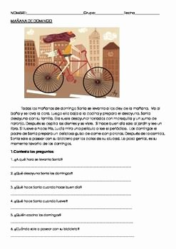 Spanish Reading Comprehension Worksheet Best Of Spanish Prehension and the Gap On Pinterest