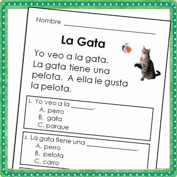 Spanish Reading Comprehension Worksheet Lovely Spanish Reading Prehension Passages for Beginning