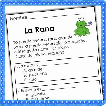 Spanish Reading Comprehension Worksheet Luxury Spanish Reading Prehension Passages and Questions the