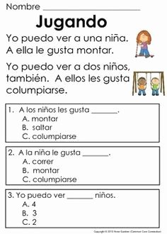 Spanish Reading Comprehension Worksheet Luxury Spanish Reading Prehension Passages for Beginning