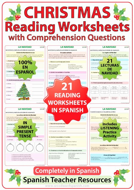 Spanish Reading Comprehension Worksheet New Christmas – Reading Prehension Worksheets In Spanish
