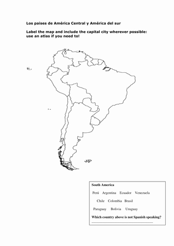 Spanish Speaking Countries Map Worksheet Awesome Los Paises Hispanohablantes by Coventrymiss Teaching