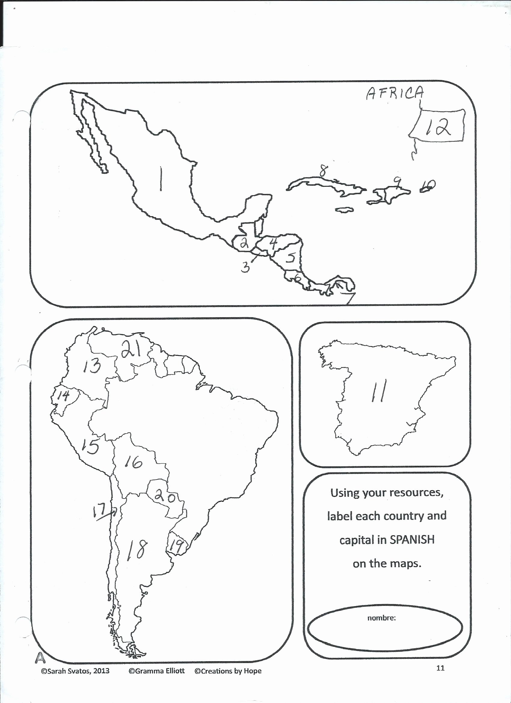 Spanish Speaking Countries Map Worksheet Beautiful the O Farrell Charter School