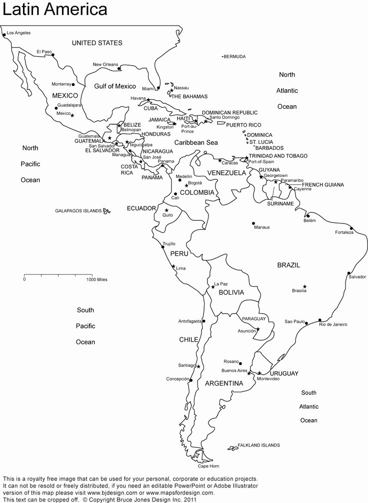 Spanish Speaking Countries Map Worksheet Elegant Latin America Printable Blank Map south America Brazil