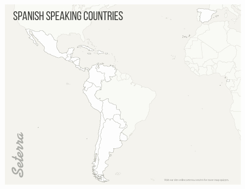 Spanish Speaking Countries Map Worksheet Fresh Spanish Speaking Countries Printables Map Quiz Game
