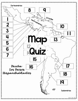 Spanish Speaking Countries Map Worksheet Luxury Spanish Speaking Countries Maps and Quizzes by Sra Cruz
