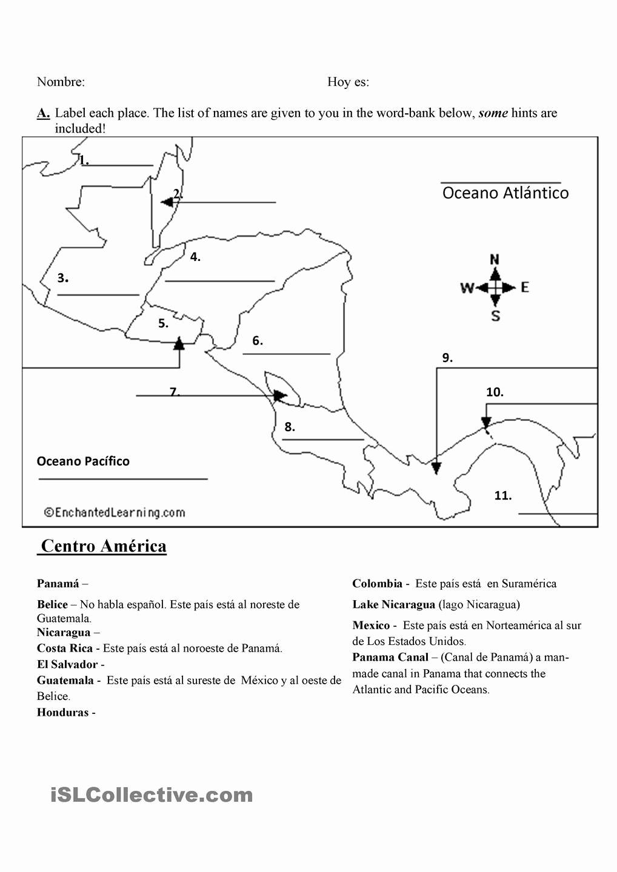 Spanish Speaking Countries Map Worksheet New Maps Quiz Spanish Speaking Countries
