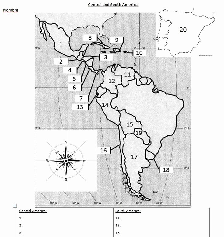 Spanish Speaking Countries Map Worksheet New Spanish Speaking Countries Blank Map for Spanish