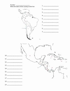 Spanish Speaking Countries Map Worksheet New This Printable Map Of south America Has Blank Lines On