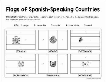 Spanish Speaking Countries Worksheet Awesome Flags Of Spanish Speaking Countries Bulletin Board Border