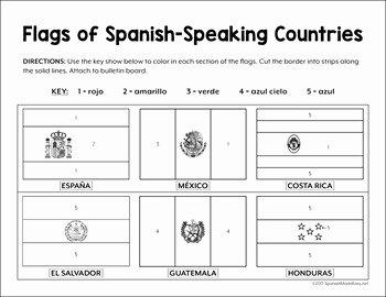 Spanish Speaking Countries Worksheet Awesome Flags Of Spanish Speaking Countries Bulletin Board Border