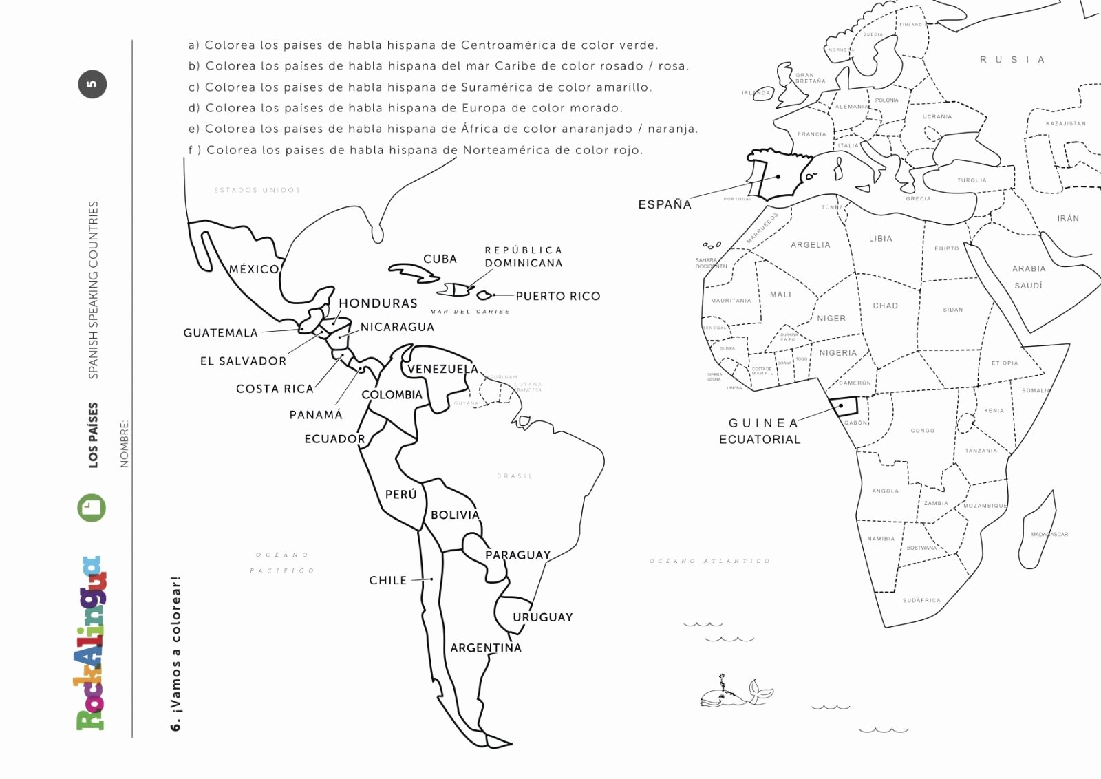 Spanish Speaking Countries Worksheet Awesome Spanish Speaking Countries Worksheet