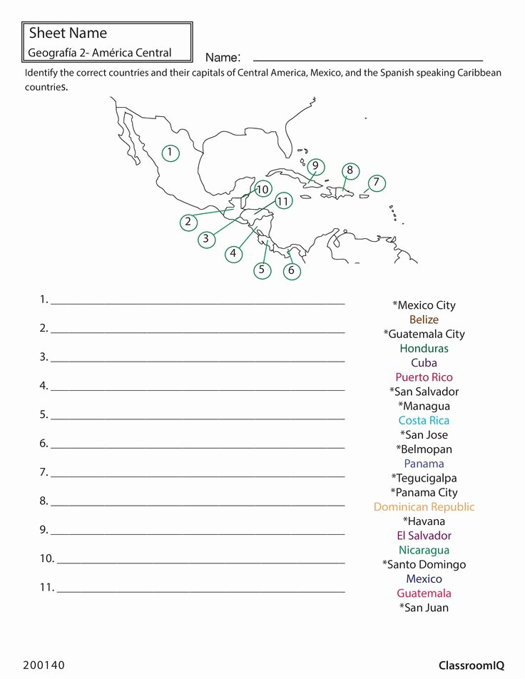 Spanish Speaking Countries Worksheet Beautiful Identify Countries and Capitals Spanishworksheet