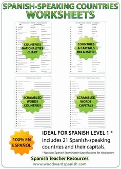 Spanish Speaking Countries Worksheet Fresh Spanish House 18 Rooms Vocabulary Ids and Answer Key