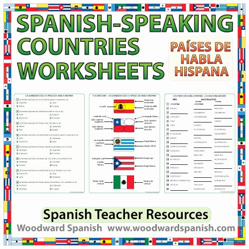 Spanish Speaking Countries Worksheet Fresh Spanish Speaking Countries Worksheets