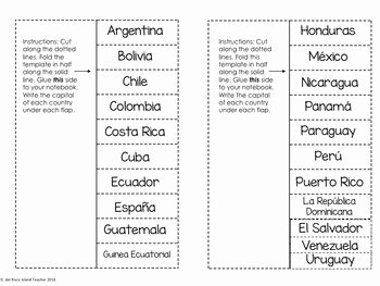 Spanish Speaking Countries Worksheet Luxury Spanish Speaking Countries and Capitals Interactive