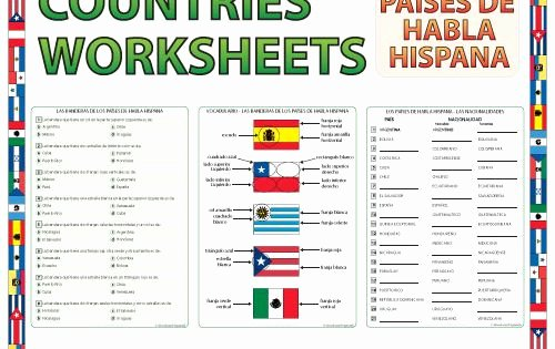 Spanish Speaking Countries Worksheet Luxury Spanish Speaking Countries Worksheets and Activities