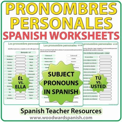 Spanish Subject Pronouns Worksheet Best Of Spanish Subject Pronouns – Worksheets