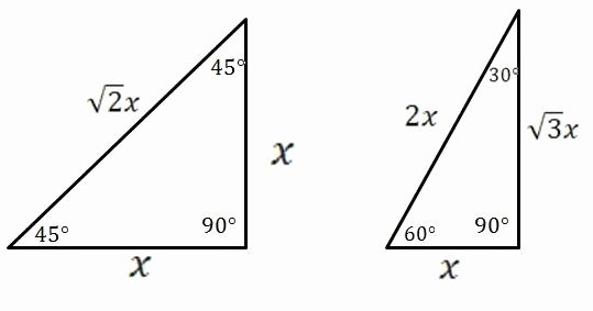 Special Right Triangles Practice Worksheet Elegant Mathcounts Notes Special Right Triangles 30 60 90 and 45