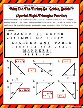 Special Right Triangles Practice Worksheet Elegant Right Triangles Special Right 45 45 & 30 60 90