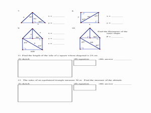 Special Right Triangles Practice Worksheet Elegant Special Right Triangles Homework 9th 12th Grade