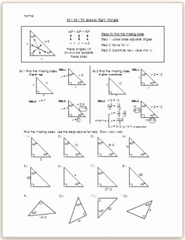 Special Right Triangles Practice Worksheet Inspirational 45 45 90 Special Right Triangle Practice Hw by Eric