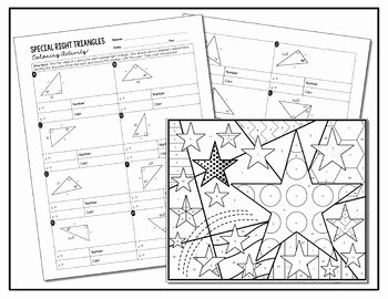 Special Right Triangles Practice Worksheet Lovely Special Right Triangles Coloring Activity by All Things