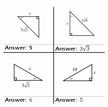 Special Right Triangles Practice Worksheet Lovely Special Right Triangles Practice Game Problem Cards Class