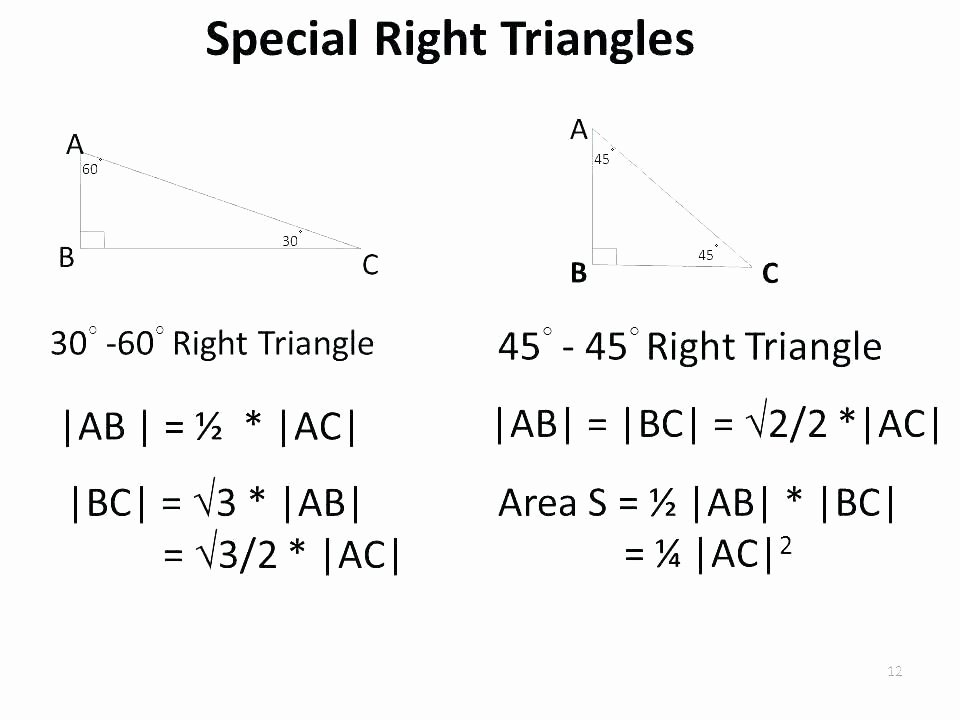 Special Right Triangles Practice Worksheet Lovely Special Right Triangles Worksheet Pdf