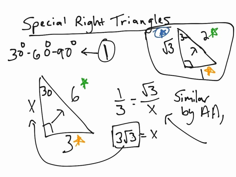 Special Right Triangles Practice Worksheet New Special Right Triangles 30 60 90 Worksheet Answers Free