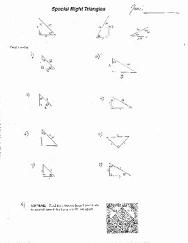 Special Right Triangles Worksheet New 10 Double Sided Special Right Triangles W Quizzes Radicals