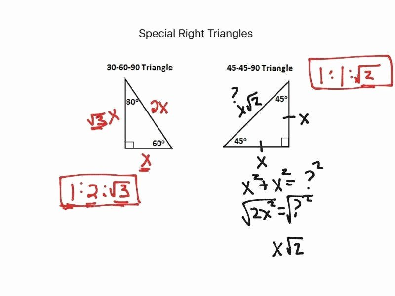 Special Right Triangles Worksheet New Geometry Worksheet Answers