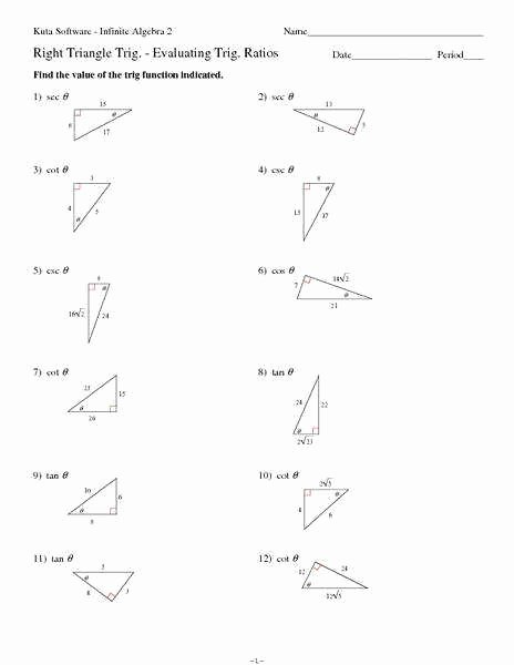 Special Right Triangles Worksheet Unique Special Right Triangles Worksheet