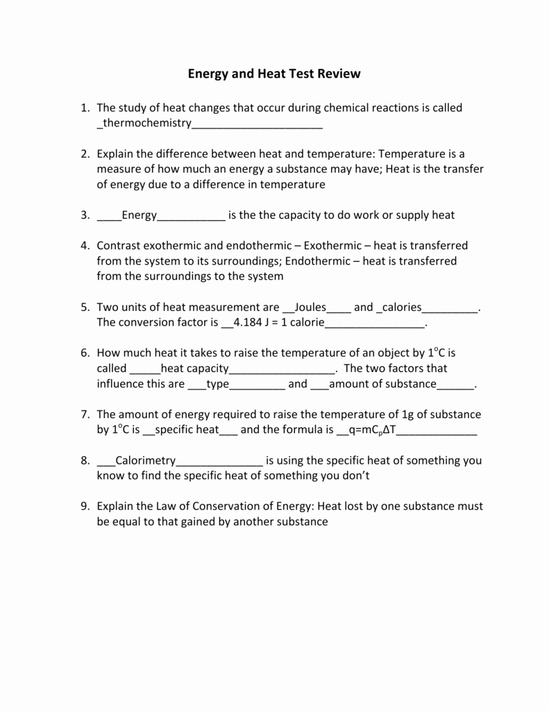 Specific Heat Worksheet Answer Key Fresh Worksheet Specific Heat Worksheet Answers Grass Fedjp