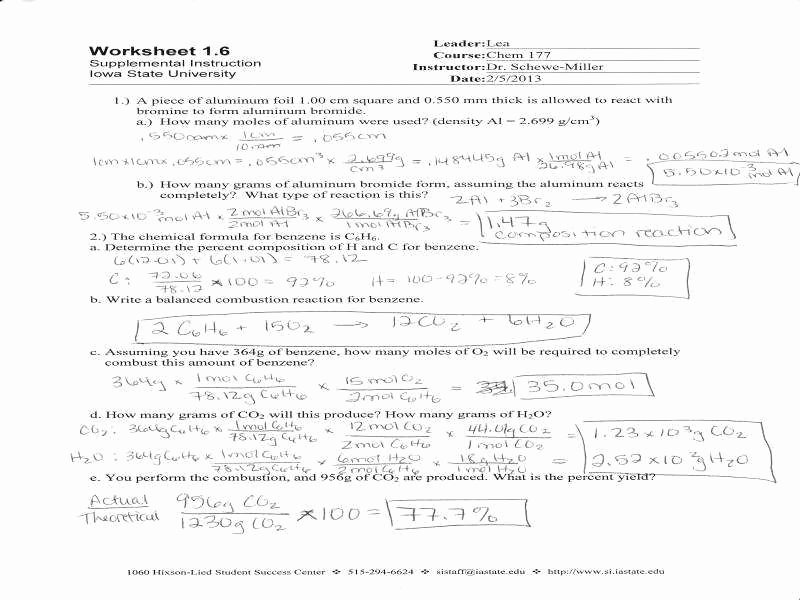 Specific Heat Worksheet Answers Awesome Stoichiometry Practice Worksheet