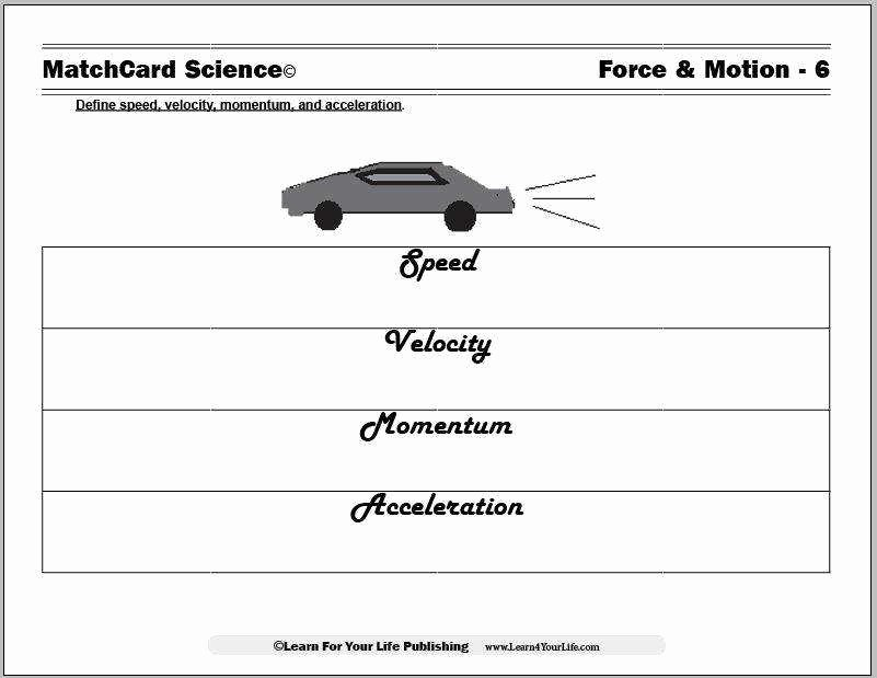 Speed and Velocity Worksheet New Velocity and Acceleration Worksheet