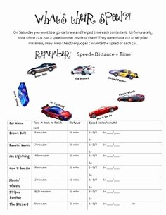 Speed Practice Problems Worksheet New 4th Grade Math Worksheets Calculating Speed