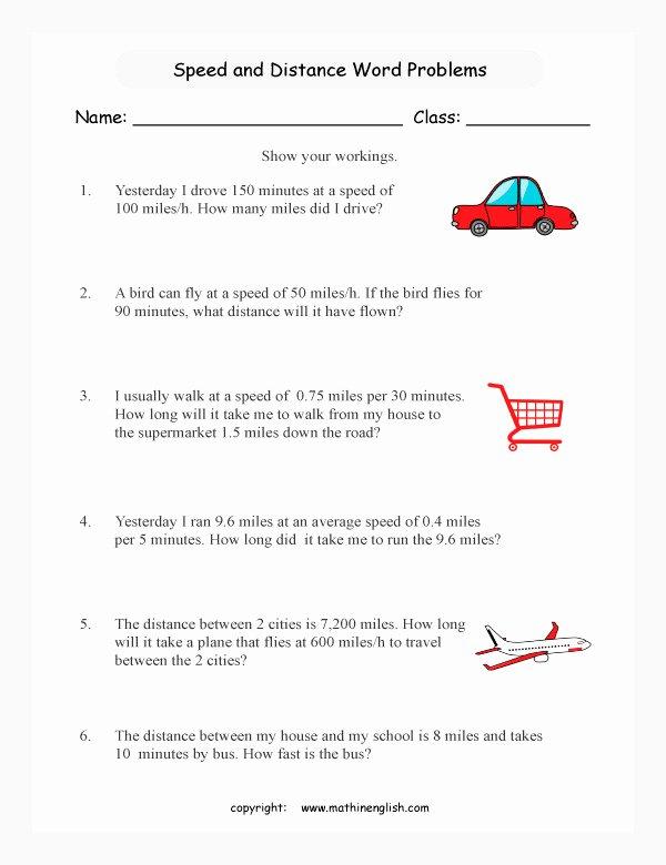 Speed Problem Worksheet Answers Elegant Speed Worksheet