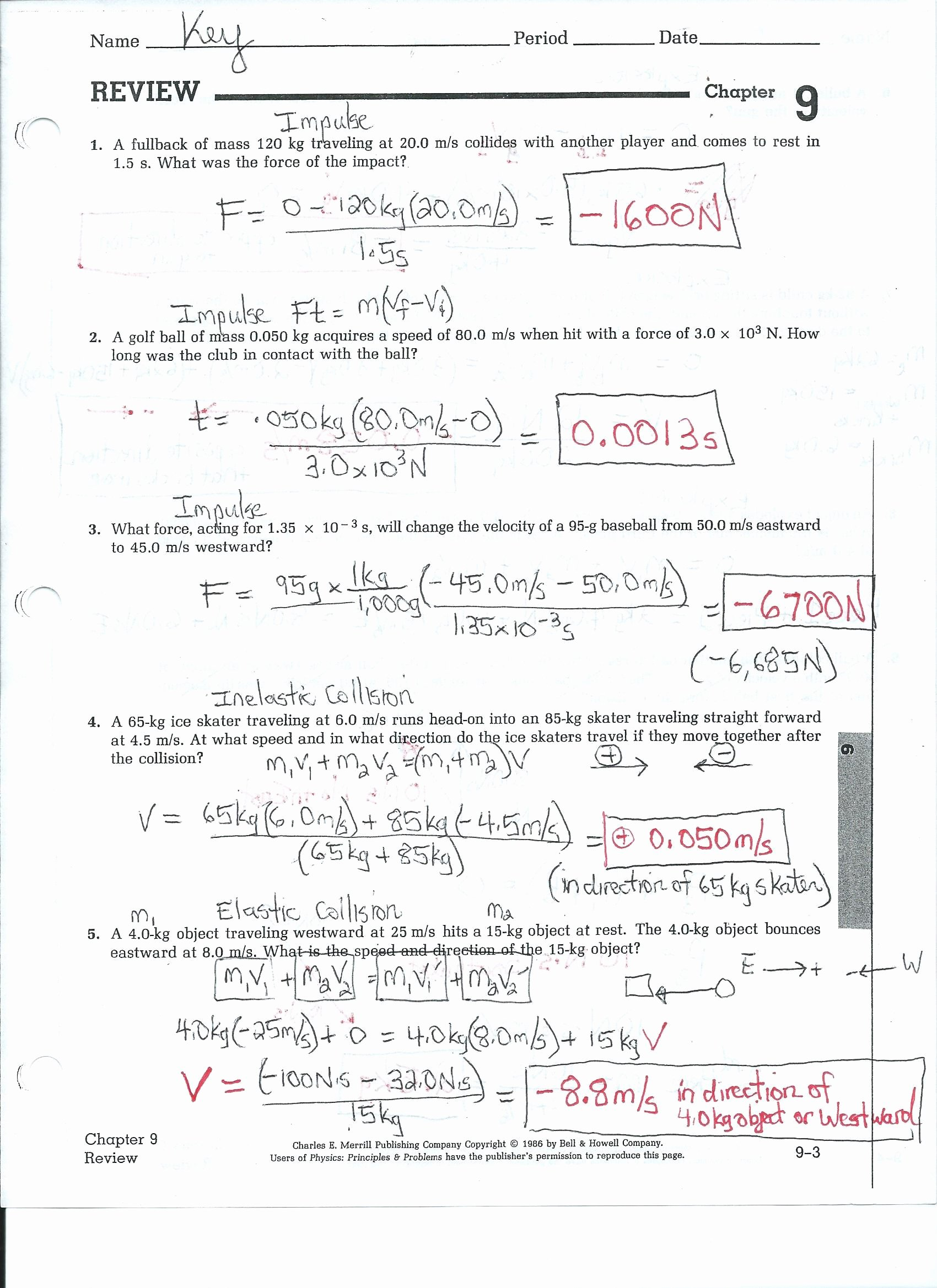 Speed Problem Worksheet Answers Unique Speed and Velocity Practice Problems Worksheet Answers