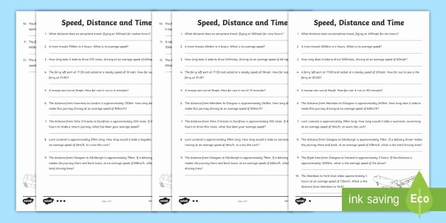 Speed Time and Distance Worksheet Lovely Speed Distance Time Differentiated Worksheets