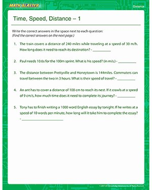 Speed Time and Distance Worksheet Unique Time Speed Distance 2 – Free Line Distance Worksheet