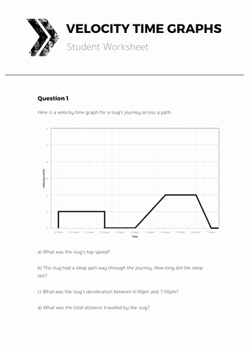 Speed Vs Time Graph Worksheet Beautiful Velocity Time Graphs Plete Lesson by tomotoole Uk